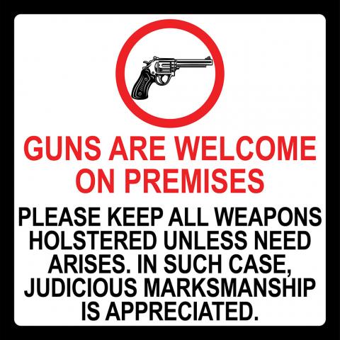 Guns Welcome Judicious Marksmanship