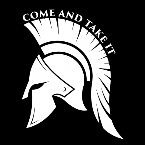 Come and Take It Spartan Helmet