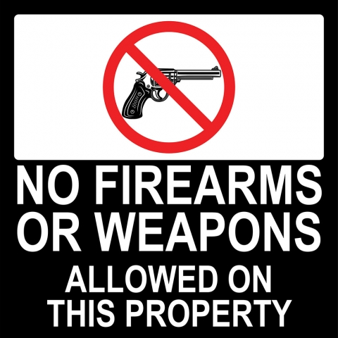 No Firearms Weapons Allowed