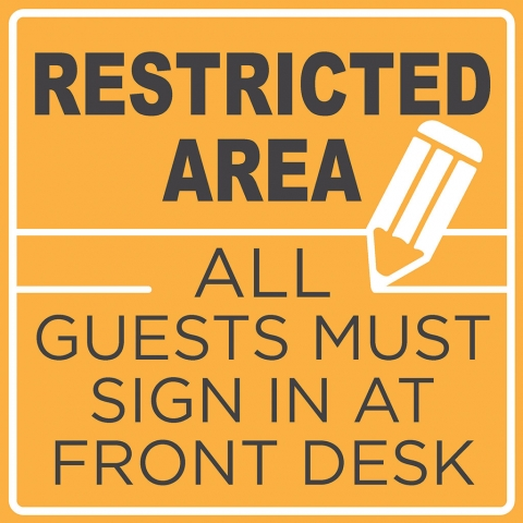 Restricted Area Guest SIgn In