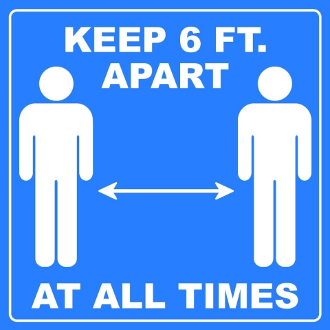 Keep 6FT Apart Pictogram
