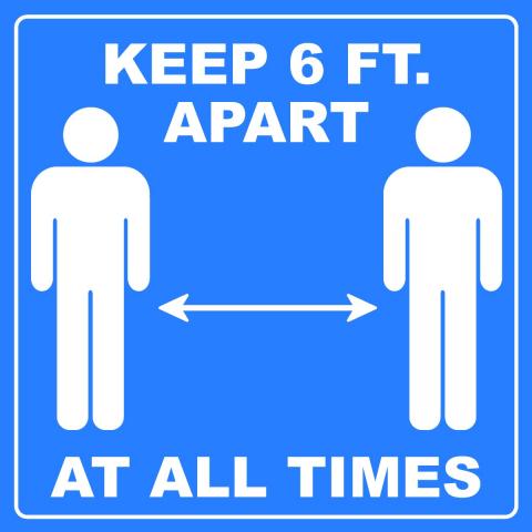 Keep 6FT Apart Pictogram