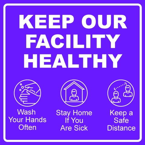 Keep Our Facility Healthy Pictograms