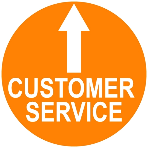 Customer Service Circle with Arrow