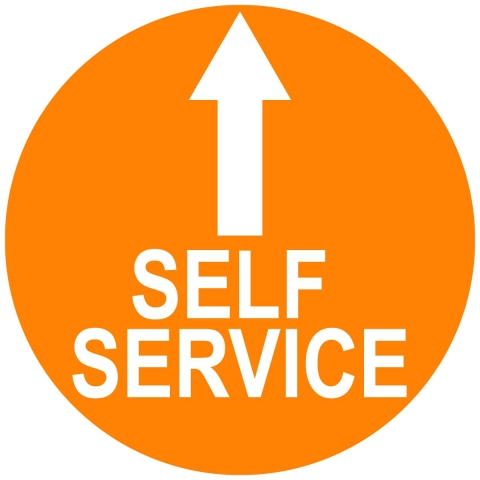 Self Service Circle with Arrow