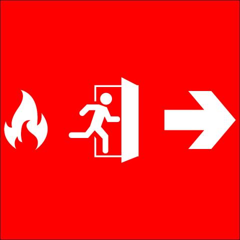 Fire Exit Right Arrow Pictogram
