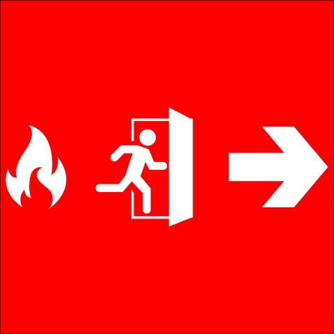 Fire Exit Right Arrow Pictogram
