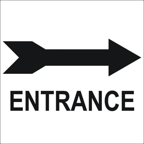 Entrance Right Arrow