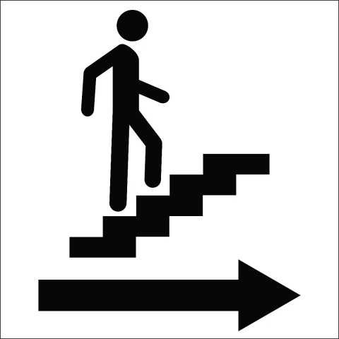 Stairs Right Arrow Pictogram