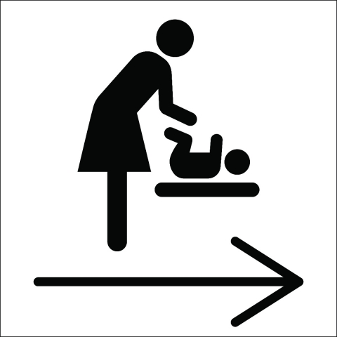 Baby Changing Station Right Arrow Pictogram