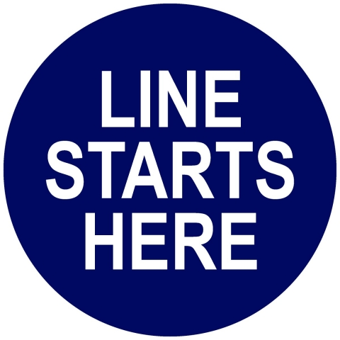 Line Starts Here Circle