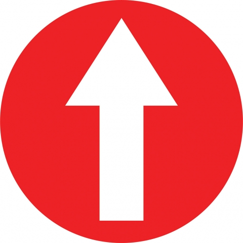 Arrow In Circle - Red