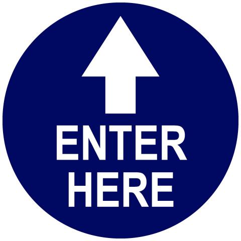 Enter Here Top Arrow