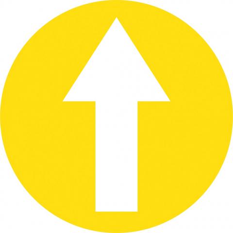 Arrow In Circle - Yellow