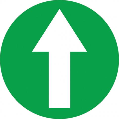 Arrow In Circle - Green