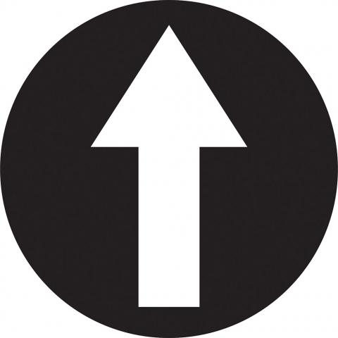Arrow In Circle - Black