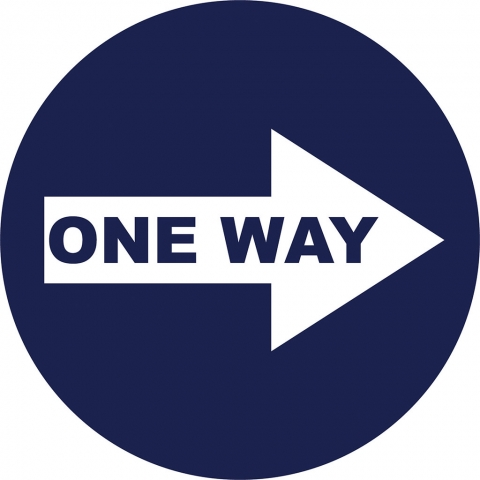 One Way Right Arrow - Blue