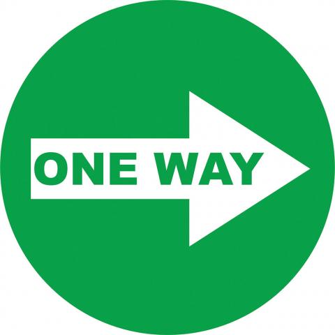 One Way Right Arrow - Green
