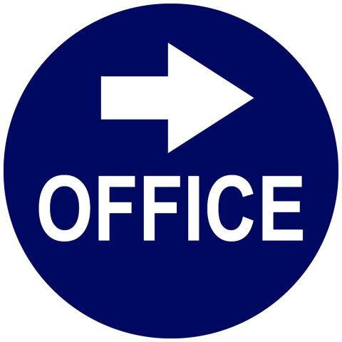 Office Circle with Right Arrow