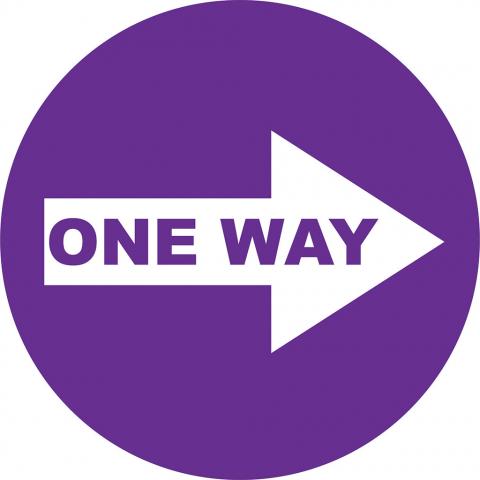One Way Right Arrow - Violet