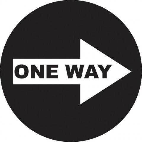 One Way Right Arrow - Black