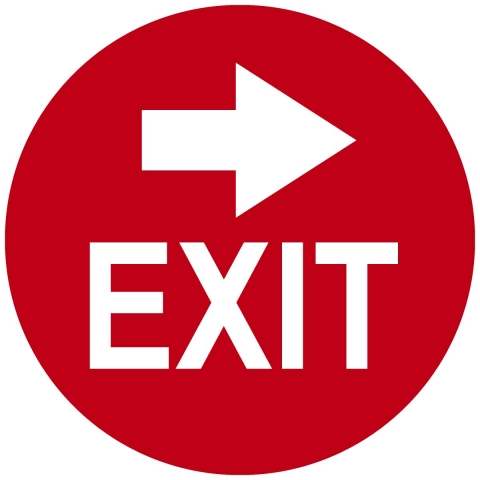 Exit Circle with Right Arrow