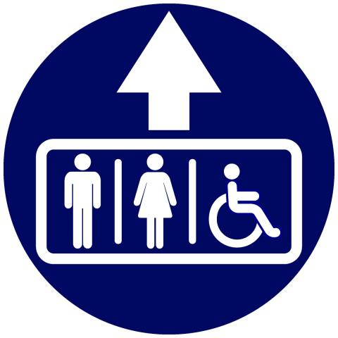 Bathroom Restroom Pictogram Circle