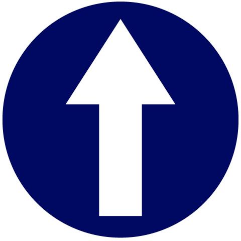 Arrow In Circle - Blue