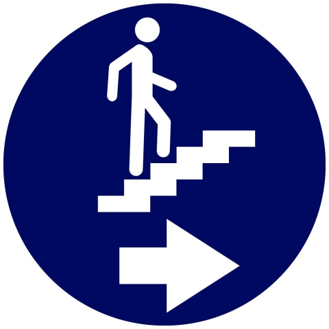 Stairs Pictogram with Right Arrow