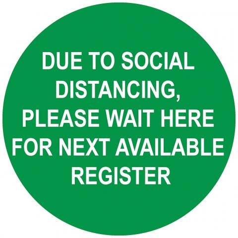 Please Wait - Social Distancing