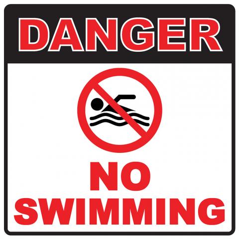 Danger No Swimming Pictogram