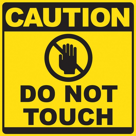 Caution Do Not Touch Pictogram