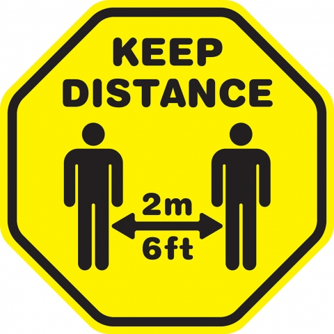 Yellow Keep  Distance