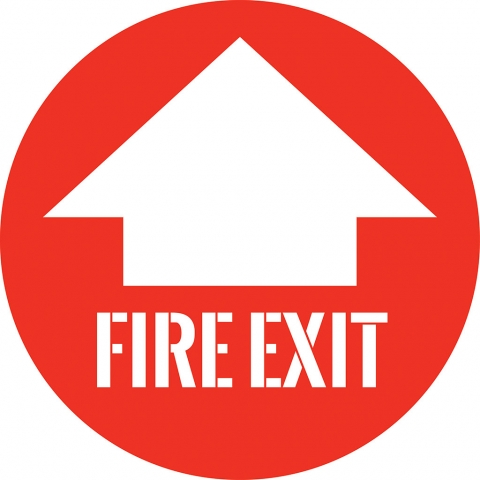 Fire Exit with Arrow