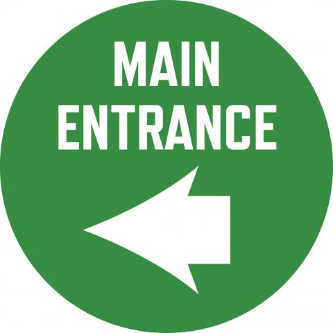 Main Entrance with Left Arrow