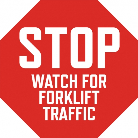 Stop Watch for Forklift Traffic