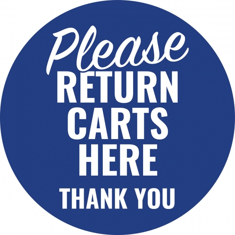 Please Return Carts Here Thank You