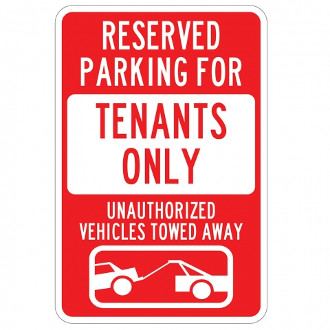 Tenant Parking Only Tow Zone