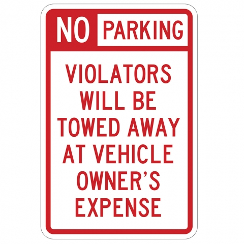 No Parking Violaters Towed