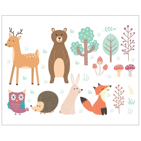 Woodland Animals and Trees