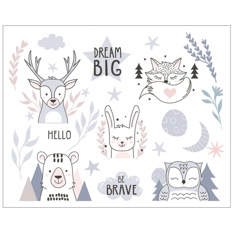 Dream Big Be Brave with Forest Animals