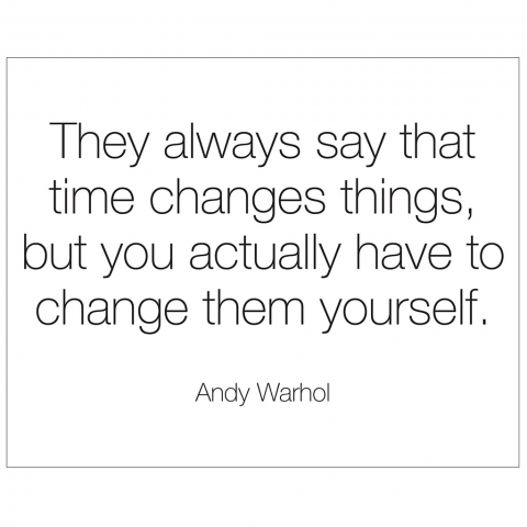 Andy Warhol Time Changes Things