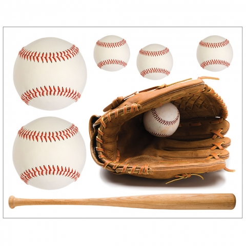 Baseball Mitt Glove and Bat