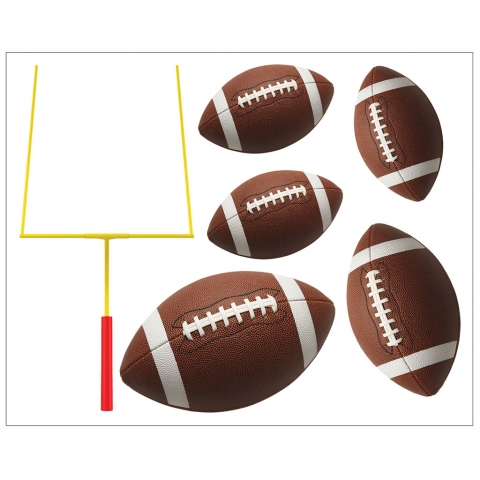 Footballs with Goal Posts