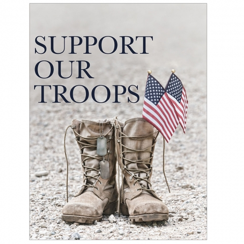 Support Our Troops Boots Tags Flags