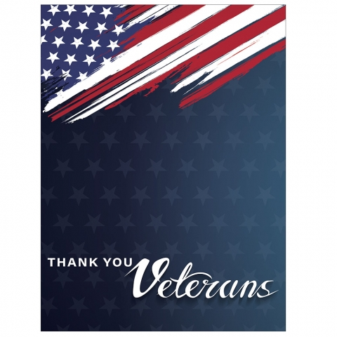 Thank You Veterans Abstract Flag