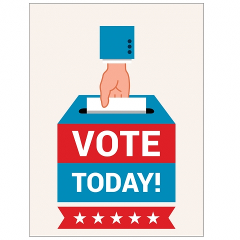Vote Today with Ballot Box