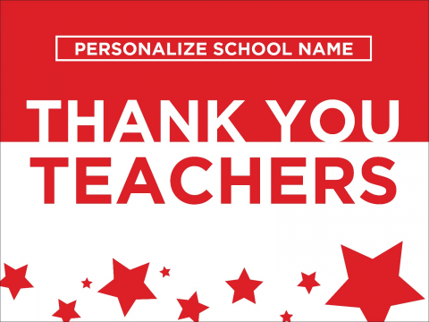 Thank You Teachers Red Stars