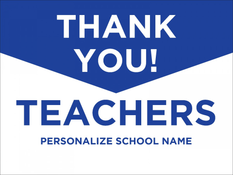 Thank You Teachers Blue Point