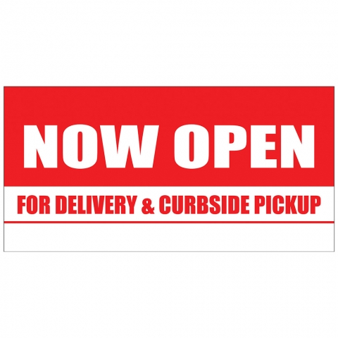 Now Open for Delivery and Curbside Pickup